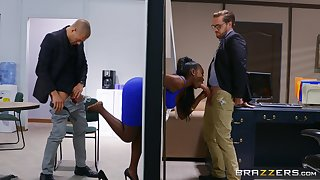 Gloomy connected with thick curves, insane office threesome