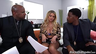 Anal fucked by a pair of black lovers with titanic cocks