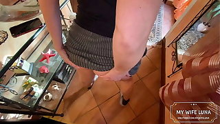 I broke the maid's exasperation after she sucked my cock like a real slut