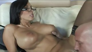 Mom in stockings Veronica Rayne fucking of cum - Big fake tits