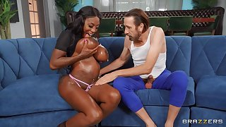 Ebony with untouched curves, barmy porn with an older person