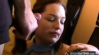 Stewardess wanted my cum on her face!