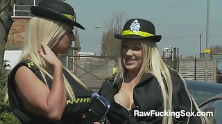 Hot Parking Officers Cindy Behr And Chelsea Sax Violates A Lucky Guy