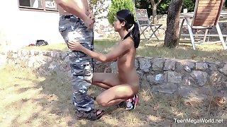 Skinny layman Lady Dee spreads her legs for an older neighbor