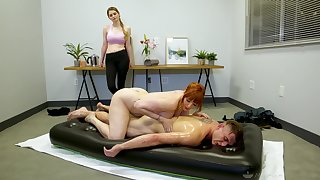 Legendary nuru massage by saturated cougar masseuse Lauren Phillips