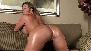 Hot MILF just about big, massive tits rides BBC