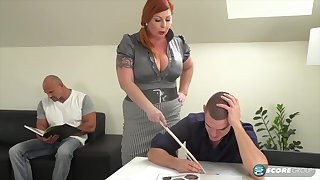 Tammy is a voluptuous, red haired woman who is always in the mood for a mmf troika