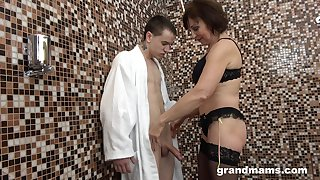 No GILF equals her added to that mature woman fucks younger men exclusively