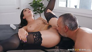 Wife in black stockings, crafty time eon getting drilled by another man